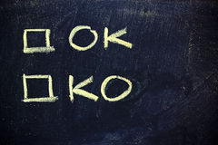 Ok or ko? Royalty Free Stock Images
