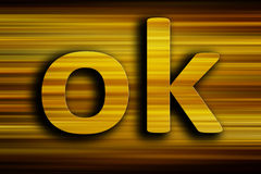 Ok letters Royalty Free Stock Image