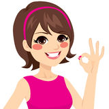 Ok lycklig kvinna royaltyfri illustrationer