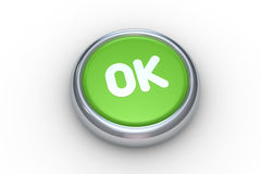Ok push button Royalty Free Stock Photo