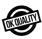Ok Quality rubber stamp Royalty Free Stock Images