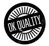 Ok Quality rubber stamp Stock Image