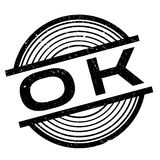 Ok rubber stamp Stock Image