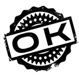 Ok rubber stamp Royalty Free Stock Image