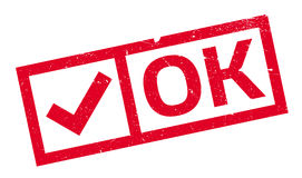Ok rubber stamp Royalty Free Stock Images