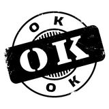 Ok rubber stamp Stock Images