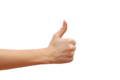 Ok sign. Hand formed in ok sign isolated on white background Royalty Free Stock Image
