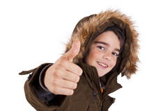 Ok sign boy Royalty Free Stock Image