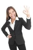 OK sign businesswoman Stock Images
