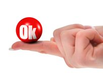 OK sign on finger Royalty Free Stock Photo