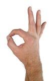ok signalering för hand arkivfoton