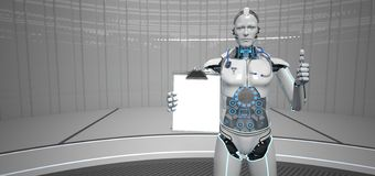 Ok skrivplatta f?r medicinsk assistent f?r robot stock illustrationer