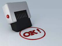 OK stamp 3d Stock Images