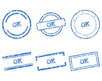 Ok stamps. Detailed and accurate illustration of mk stamps Royalty Free Stock Photos