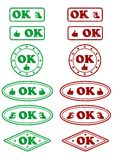 OK stamps - cdr format Stock Image