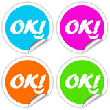 Ok sticker Stock Photography