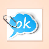 Ok sticker Stock Image