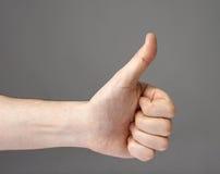 OK symbol. Man�s hand gesturing the OK symbol Royalty Free Stock Photos