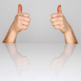 Ok symbol. Human hand showing gesture OK stock photos