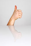 Ok symbol. Human hand showing gesture OK royalty free stock photography