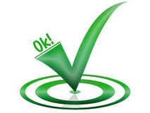Ok Symbol in green for a website Royalty Free Stock Images