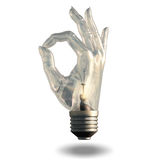 OK Symbol Light bulb Royalty Free Stock Image