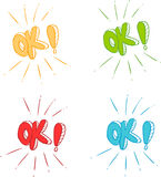 Ok symbol signs Stock Photos