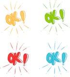 Ok symbol signs Stock Photos