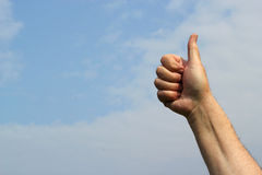 OK or thumbs up sign. Stock Images