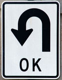 OK U Turn Sign Stock Image