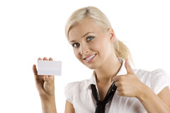 Ok white card Royalty Free Stock Images