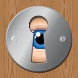 oka keyhole patrzeje podglądanie Zdjęcie Royalty Free