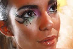 oka kreatywnie makeup Obrazy Stock