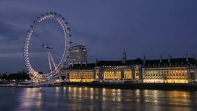 oka London noc zbiory wideo