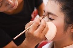Oka Makeup szkolenie Zdjęcia Stock