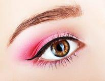 Oka różowy makeup Zdjęcie Stock