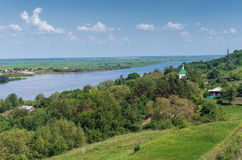 Oka river. Central Russia Royalty Free Stock Image
