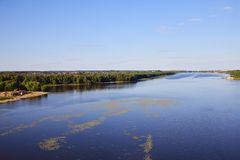 Oka River at confluence of the Moskva River, Russia Stock Image