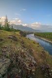 Oka River. East Sayan. Stock Photos