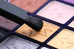 oka szczotkarski makeup zdjęcie stock
