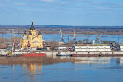 Oka and Volga conflux Royalty Free Stock Images