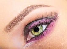 Oka zamknięty up makeup Obraz Royalty Free