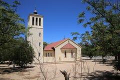 Okahandja kyrka royaltyfria bilder