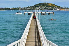 Okahu Pier in Okahu Bay in Auckland - New Zealand Stock Photos