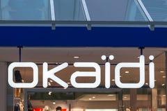 Okaidi sign in bochum germany. Bochum, North Rhine-Westphalia/germany - 08 11 18: okaidi sign in bochum germany royalty free stock image