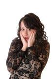 Okaleczająca młoda kobieta. zdjęcia stock