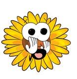 Okaleczająca Słonecznikowa kreskówka Zdjęcie Stock