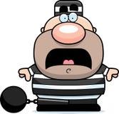 Okaleczający kreskówka więzień ilustracja wektor