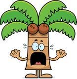 Okaleczający kreskówki drzewko palmowe royalty ilustracja
