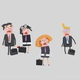 Okaleczający ludzie biznesu royalty ilustracja